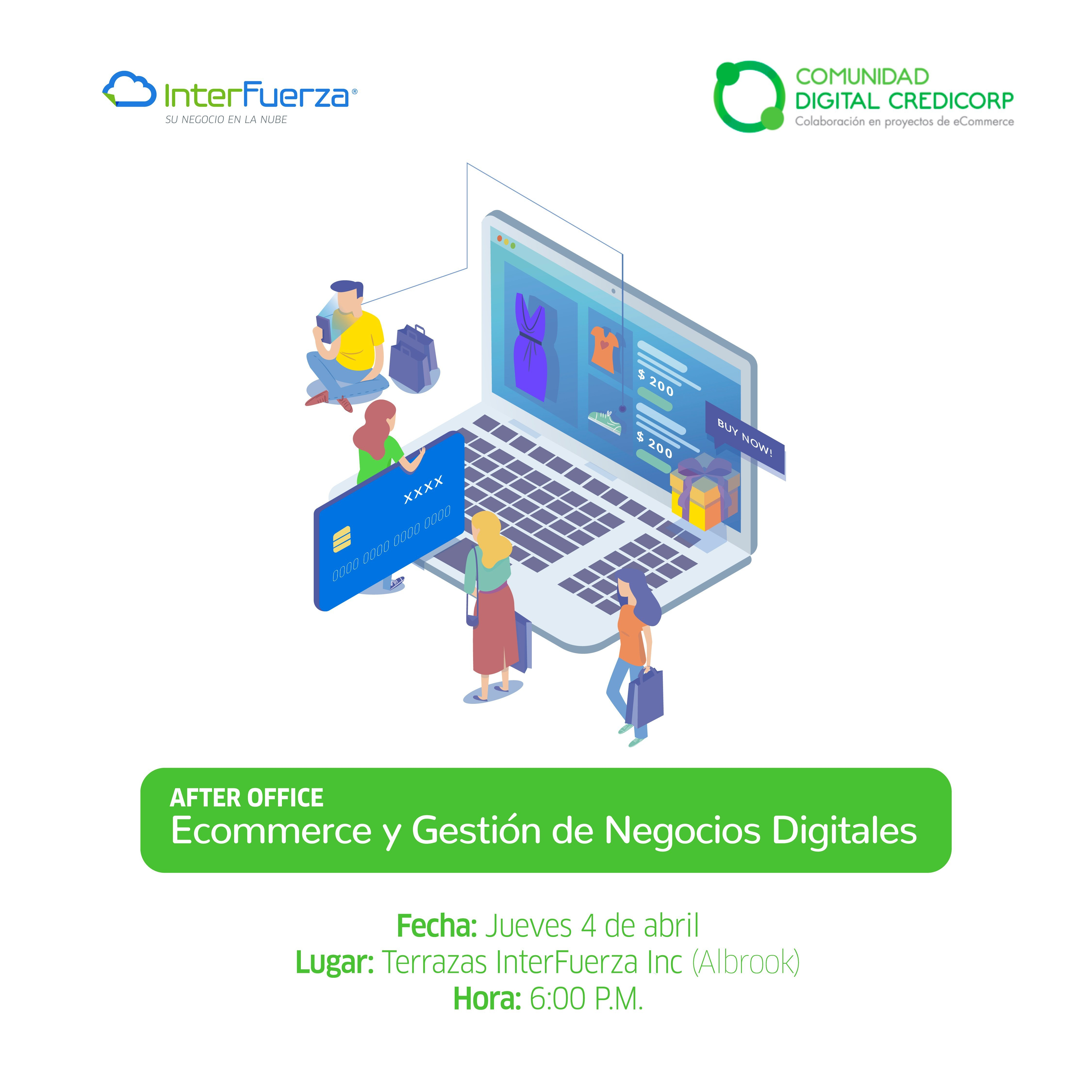 Ecommerce y Gestión de Negocios Digitales. Jueves 4 de abril a las 6:00 PM
